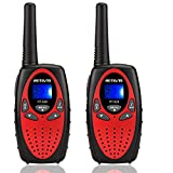 Retevis RT628 Kids Walkie Talkies 22 Channel FRS Toy for Kids UHF FRS 2 Way Radio Toy(Red,2 Pack)