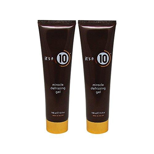 Bundle-2 Items : It's a 10 Miracle Defrizzing Gel, 5 fl. oz. (Pack of (Growing Hair Gel)