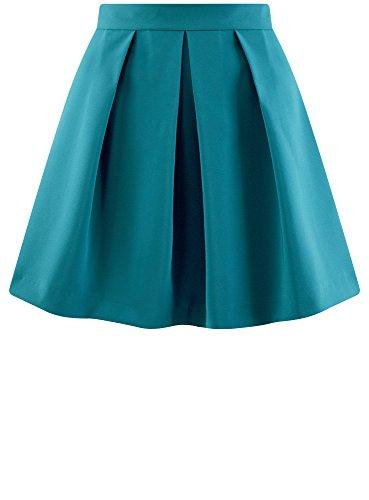 Femme Bleu Oodji Inversés À Jupe 7400n Ultra Évasée Plis U0nq05vw