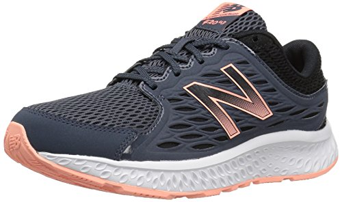 New Balance Women's W420V3 Running Shoe, Thunder/Black/Bleached Sunrise, 9 D US