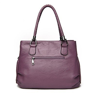 Women Bags All Season PU Shoulder Bag Zipper for Wedding Event/Party Casual Formal Office & Career Wine Light Gray Purple Black,Purple by LTXNSB