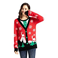 Twotwowin Unisex Novelty Christmas Sweater