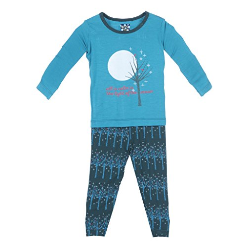 - KicKee Pants Little Boys Long Sleeve Pajama Set, Pine Frosted Birch, 18-24 Months