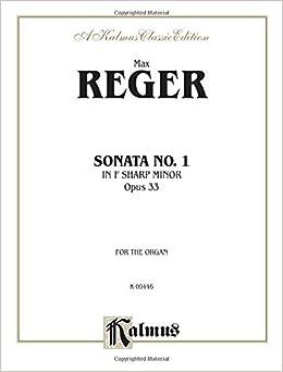 Sonata in F-sharp Minor, Op. 33: Sheet (Kalmus Edition)