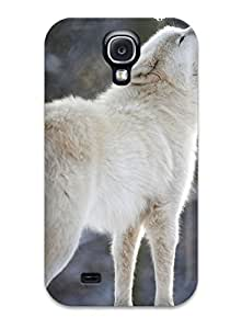 7170498K42528455 Protection Case For Galaxy S4 / Case Cover For Galaxy(arctic Wolf)