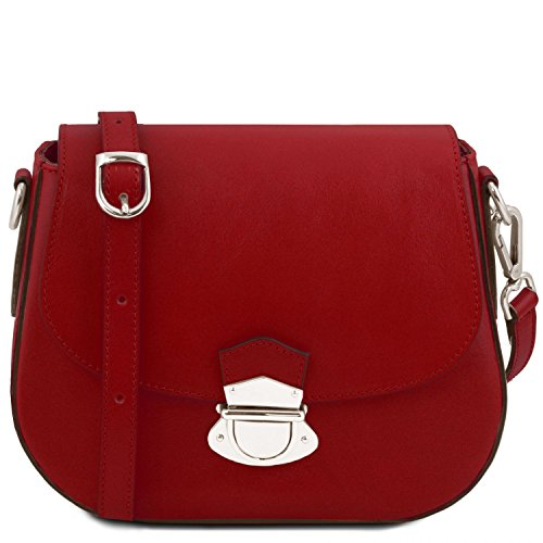 Tuscany Leather TL Neoclassic Borsa a tracolla in pelle Miele Rosso