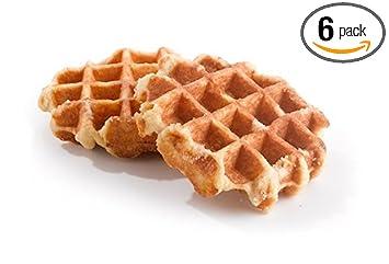 bindi belgian pearl sugar waffles 6 x 3 5 ounce amazon com