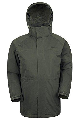 Chaqueta Mountain Mens una capa Mens hidrófuga longitud dobladillo más capa bolsillos larga de Westport de Caqui del la ajustable larga invierno Warehouse ArZwvqEA