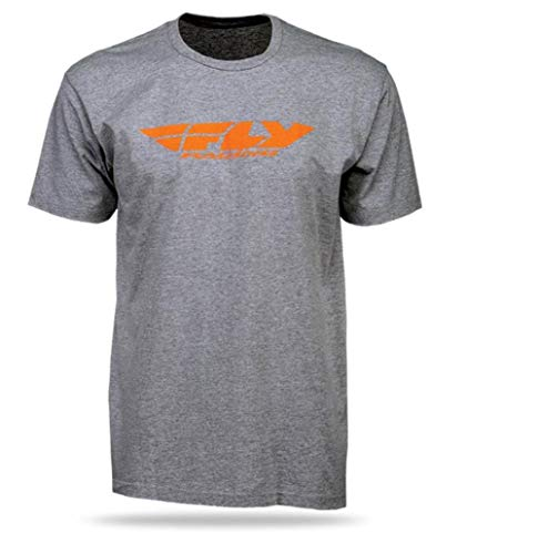 (Fly Racing Corporate Standard Youth T-Shirt (Gray, Large))