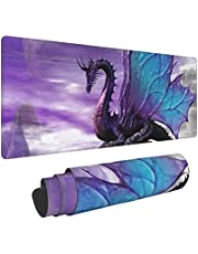 Purple Dragon Purple Moon Printed Mouse Pad,Ultra Thin Large Desk Mat with Non-Slip Rubber Base for Home Office Gaming Work Desk Pad 31.5 x 11.8 inch