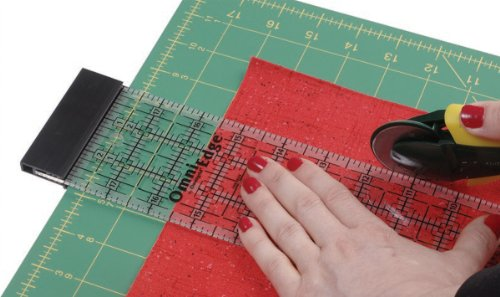OmniEdge 4 Inch by 36 Inch Non Slip Quilters Ruler