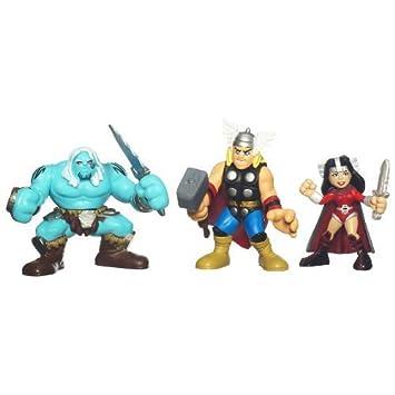 amazon marvel super hero squad thor movie 3 pack thor sif