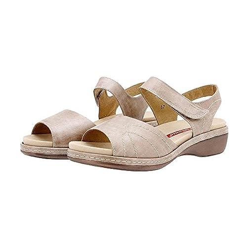 Femme 1801 Confort À Cuir Sandales Semelle En Piesanto Chaussure QBsthorxdC