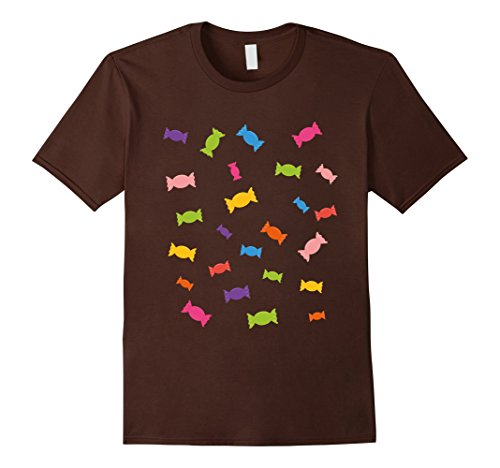 Mens Sweet Candys Cute Halloween Costume T-Shirt 3XL Brown