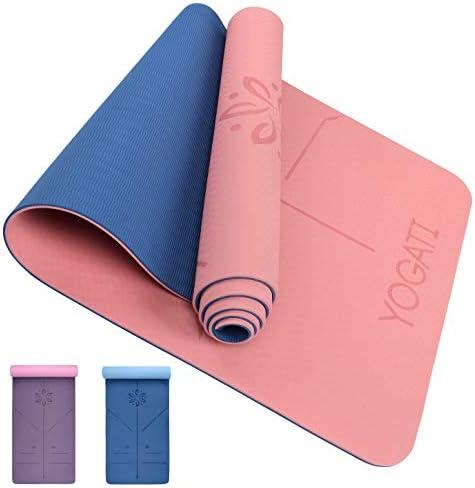 massif Keepbest Tapis de yoga en li/ège TPE antid/érapant Tapis de yoga 5 mm Tapis de gymnastique pour femme et homme Solid