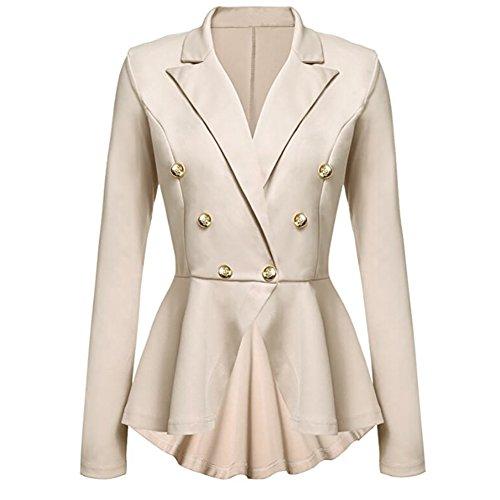 E Primavera Pannello Del Giacca Esterno Blazer Stile Elegante Donna Autunno Cachi Per Lunghe Ibaste Maniche 7qOg1