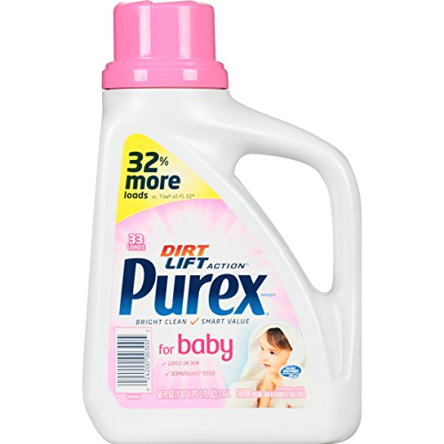 Purex Baby Liquid Laundry Detergent, 50 oz,33 loads, (Pack of 2)