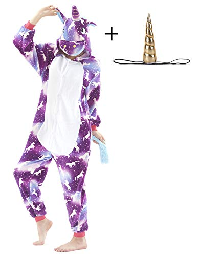 Animal Cosplay Costume Unisex Adult Pajamas Christmas Cosplay Onepiece Cartoon Costume (XL, Purple)