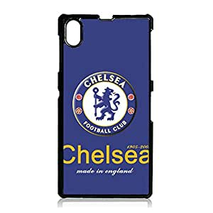 Official EPL Football Team Chelsea FC Logo Phone Case Bright Cute Custom Chelsea Football Club Logo Protective Case Cover Snap On Sony Xperia Z1