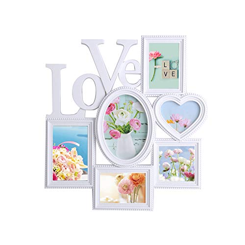 dporticus Home Creative Collage Wall-Mounted Plastic Photo Frame (6), Decorative Frame with(W×H) 5