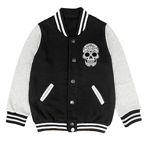 HKSDAS Halloween Skull Kids Baseball Jacket Varsity Jacket Top 2-10 Year -