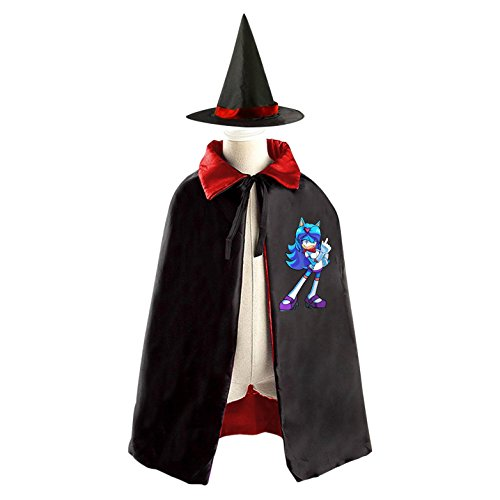 The Costume Cosplay Hedgehog Shadow (Dab Sonic The Hedgehog Kids Halloween Party Costume Cloak Wizard Witch Cape With)
