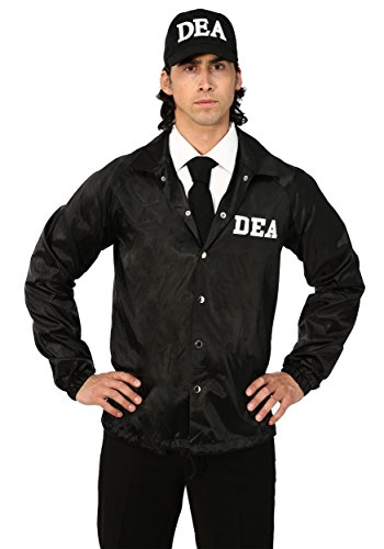 Adult DEA Agent Costume X-Large Black