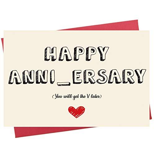 (Naughty Anniversary Card, Funny Sexy Wedding Dating Anniversary Card for Him Boyfriend)