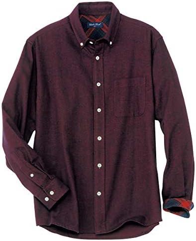 カジュアルシャツ 綿100% 無地調フランネルシャツ 起毛 JB-1047 メンズ