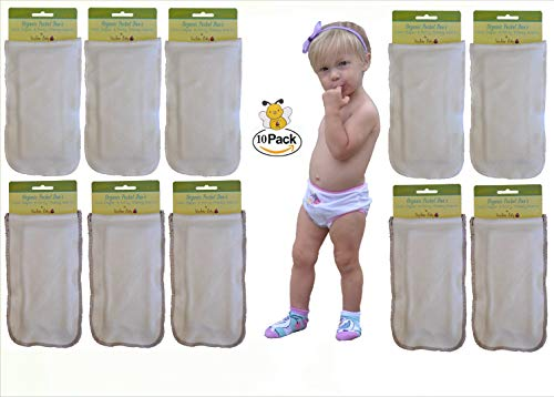- 10 Organic Potty Training Inserts for Toddler Underwear by Kashmir Baby (10 Bamboo/Organic Cloth Diaper & Potty Training Inserts)