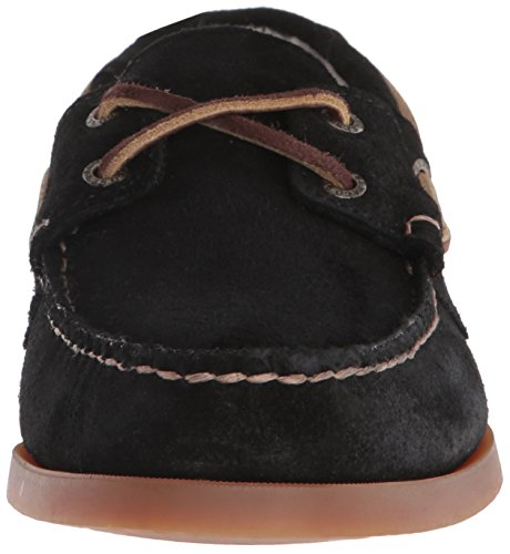Men's Black Sebago Shearling Shoe Suede Dockside Boat FwdpqTUx