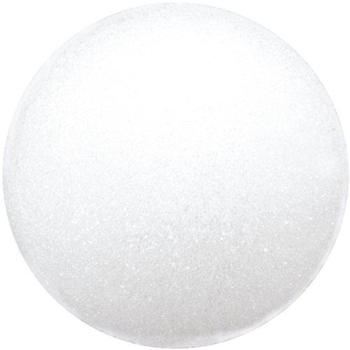 Floracraft Styrofoam Ball, 4-Inch, White, 2-Pack