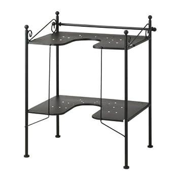 IKEA RÖNNSKÄR Waschbeckenregal in schwarz; (42x103cm)