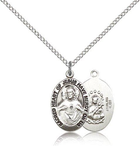 Icecarats Créatrice De Bijoux En Argent Sterling Scapulaire Médaille 3/4 X 3/8 Pouces