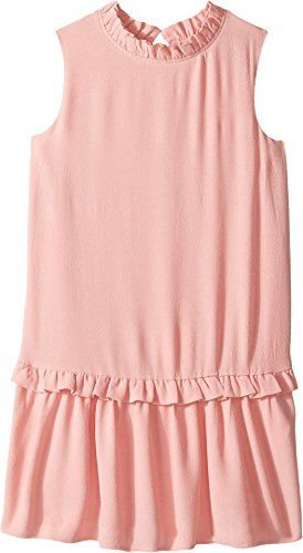 Kate Spade New York Kids Girl's Ruffle Collar Dress (Little Kids/Big Kids) Rosebud (Girls Drop Waist Dress)