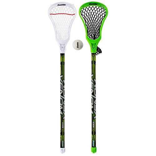Franklin Sports Lacrosse 2 Stick and 1 Ball Set, Green by Franklin Sports (Image #1)