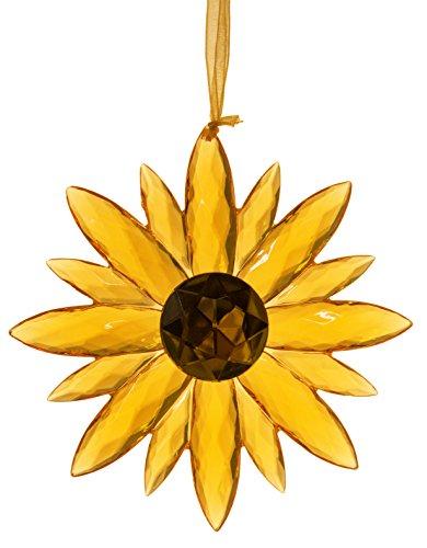 - Ganz Crystal Expressions Acrylic 5 Inch Small Jewel Flower Ornament Suncatcher (Orange)