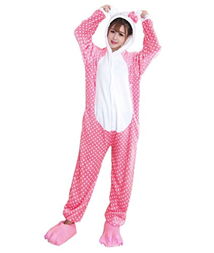 Duraplast Women's Sleepwear Onesies Loungewear Pajamas Cat Costume XL (Cat Soft Costume)