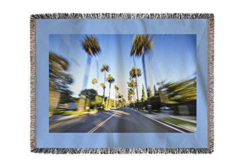 Lantern Press LA, California -Beverly Hills Motion Blur- Photography A-92264 (60x80 Woven Chenille Yarn Blanket)