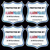 (4) 4″ New Warning! CCTV Video Sign Security Camera Stickers