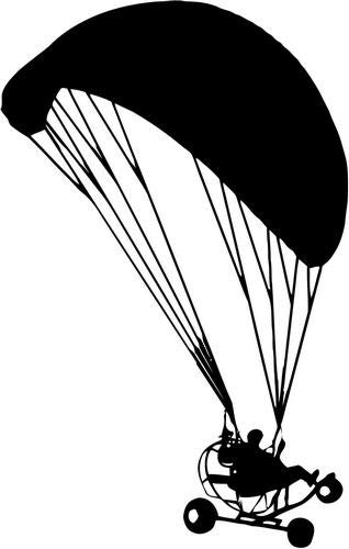 7076c8f6 Mandy Graphics Powered Paragliding Paraglider Paramotor Vinyl Die Cut Decal  Sticker for Car Truck Motorcycle Windows Bumper Wall Home Office Decor  Size- [6 ...