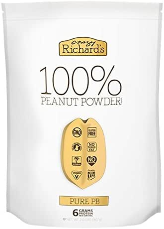 Crazy Richard's Pure PB, 100% Natural Peanut Powder, Non-GMO, Gluten-Free, 2 Pound Resealable Pouch
