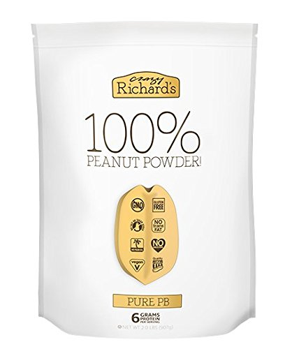 (Crazy Richard's Pure PB, 100% Natural Peanut Powder, Non-GMO, Gluten-Free, 2 Pound Resealable Pouch )