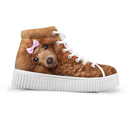 Cute Animal Fashion Platform Shoes Printing HUGSIDEA Dog1 Sneakers T8vwx44q