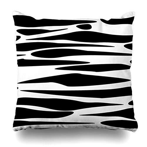 Suesoso Decorative Pillows Case 18 x 18 Inch Animal Tile Swatch Repeat Animal Art Line Modern Safari Animals Safari Stripe Throw Pillowcover Cushion Decorative Home Decor