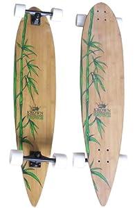 Krown Krex 2 Bamboo Pintail Complete Longboard, 9x43-Inch from KROWN