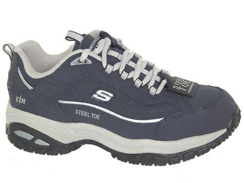 Skechers Per Lavoro Da Donna 76379 Stratum Lace-up Sneaker Blu / Grigio