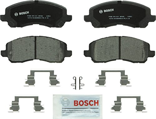Bosch BP866 QuietCast Premium Semi-Metallic Disc Brake Pad Set For: Chrysler 200, Sebring; Dodge Avenger, Caliber, Stratus; Jeep Compass, Patriot; Mitsubishi Eclipse, Galant, Lancer, Outlander, Front