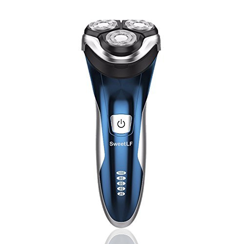 sweetlf-electric-shaver-for-men-waterproof-ipx7-wet-dry-rechargeable-rotary-razor-with-pop-up-trimme