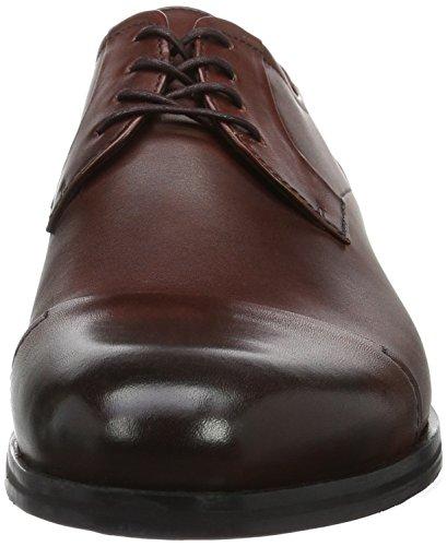 Hugo Tempt_derb_ctlt 10195370 01, Zapatos de Cordones Derby para Hombre Marrón (Rust/COOPER 220)